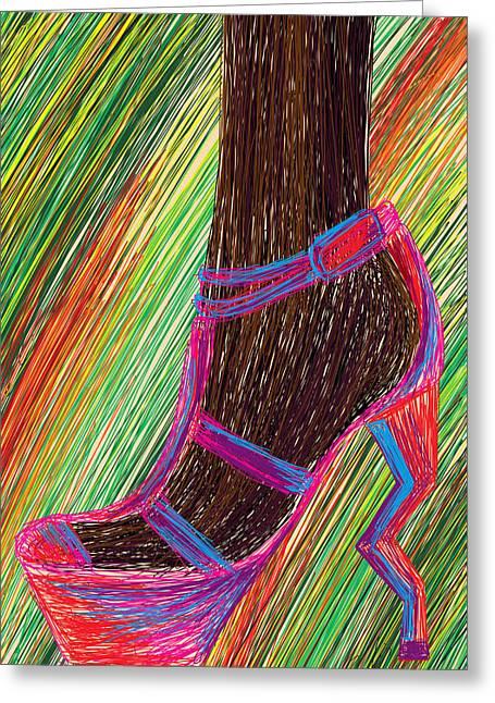 Ebony In High Heels Greeting Card by Kenal Louis