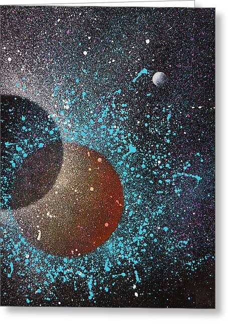 Eclipse Greeting Card by Reina Cottier