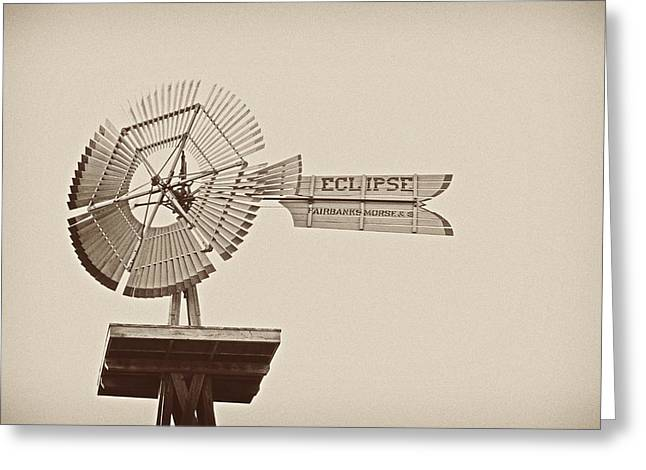 Eclipse Windmill 3578 Greeting Card by Michael Peychich