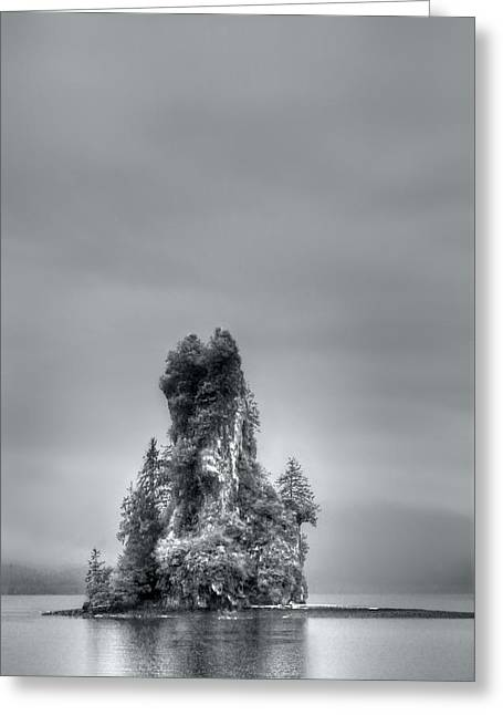 Eddystone Rock Misty Fjords National Monument Alaska Greeting Card by Julie VanDore