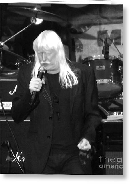 Greeting Card featuring the photograph Edgar Winter by Gary Brandes