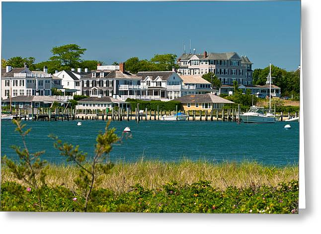 Edgartown Harbor Marthas Vineyard Massachusetts Greeting Card by Michelle Wiarda