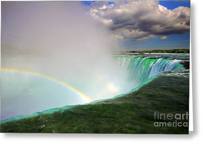 Edge Of Niagara Falls  Greeting Card