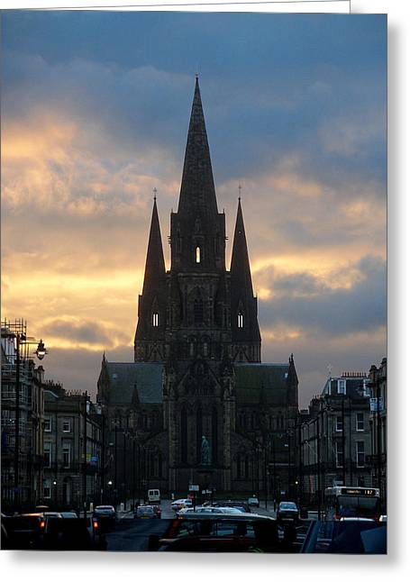 Greeting Card featuring the photograph Edinburgh Cathedral by Rod Jones