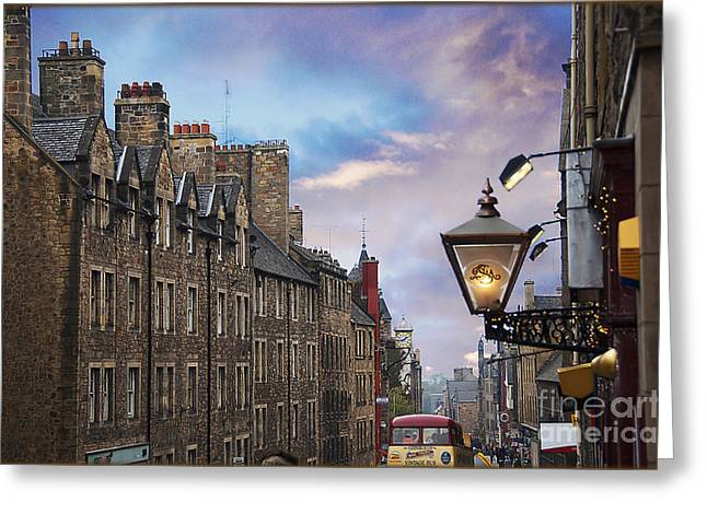 Edinburgh Mile Greeting Card