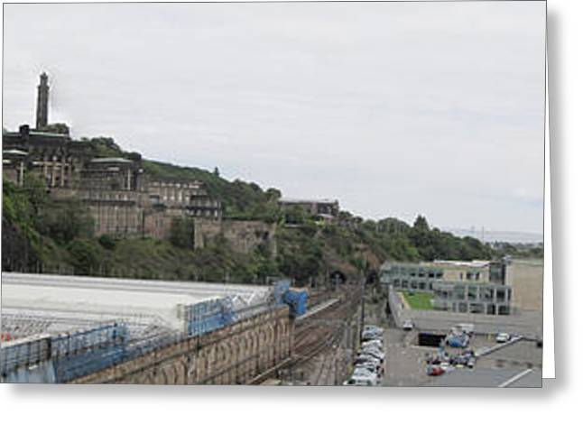 Edinburgh Station Panorama Greeting Card