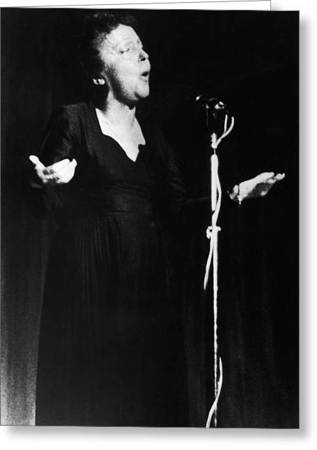 Edith Piaf 1915-1962 Greeting Card by Granger