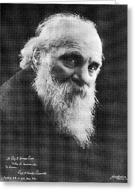 Edoardo Perroncito, Italian Physician Greeting Card by