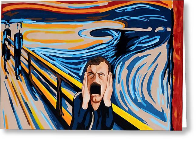 Edvard Munch - The Scream Greeting Card by Dennis McCann