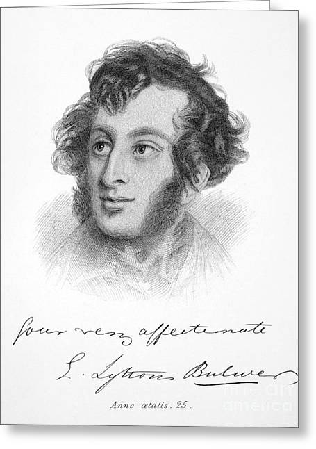 Edward Bulwer Lytton Greeting Card