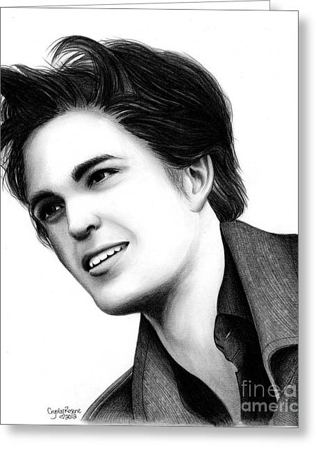 Edward Cullen Greeting Card by Crystal Rosene