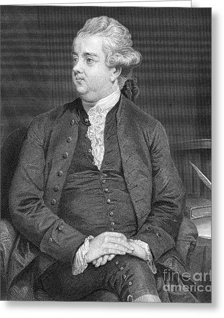 Edward Gibbon, English Historian Greeting Card by Science Source