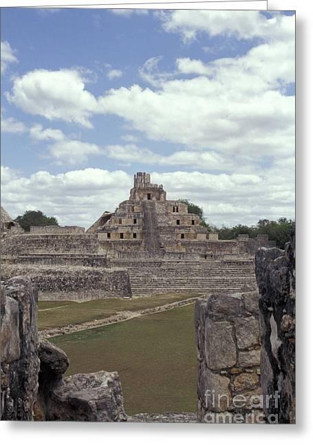 Edzna Mayan Ruins Greeting Card by John  Mitchell
