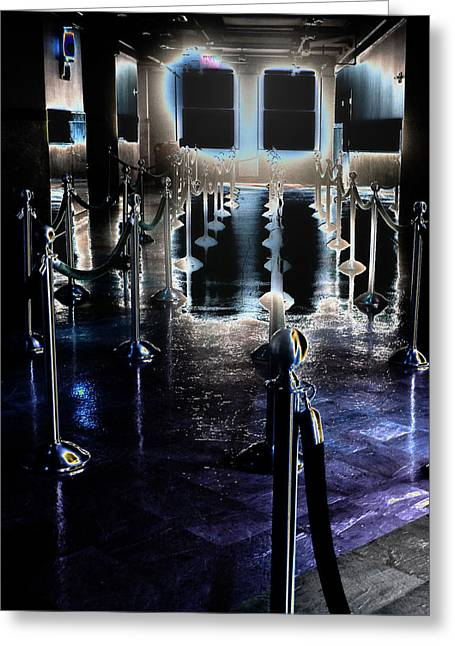 Eerie Waiting Area Greeting Card by Catherine Morgan