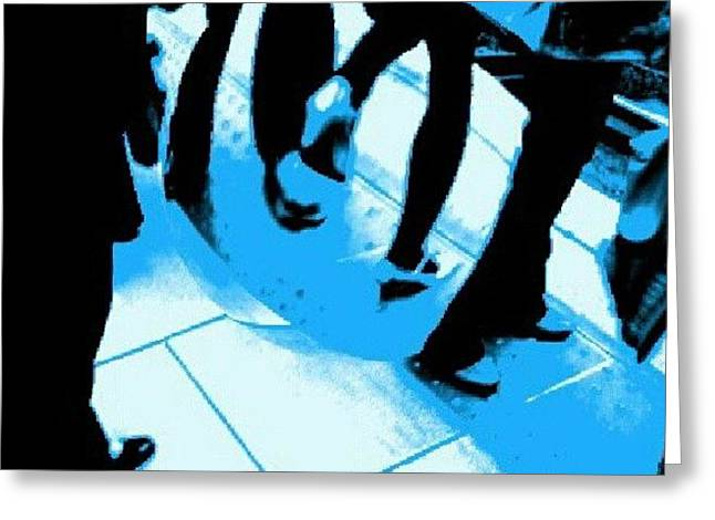 #effect #pop #art #blue #cartoon Greeting Card