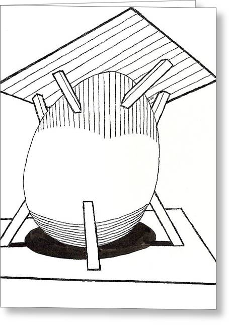 Egg Drawing 030037 Greeting Card