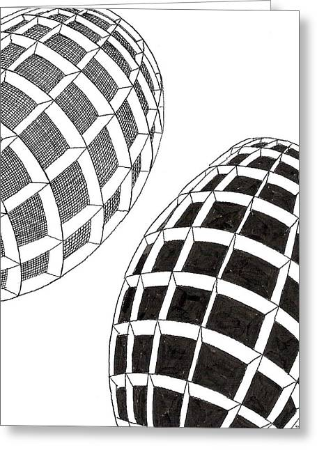 Egg Drawing 060026 Greeting Card
