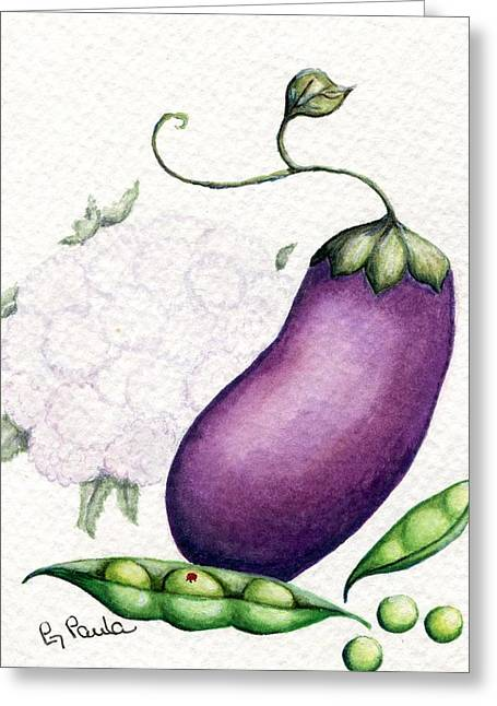 Eggplant Surprise Greeting Card