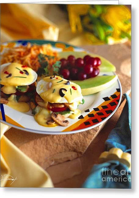 Eggs Benedict Breakfast Greeting Card by Vance Fox
