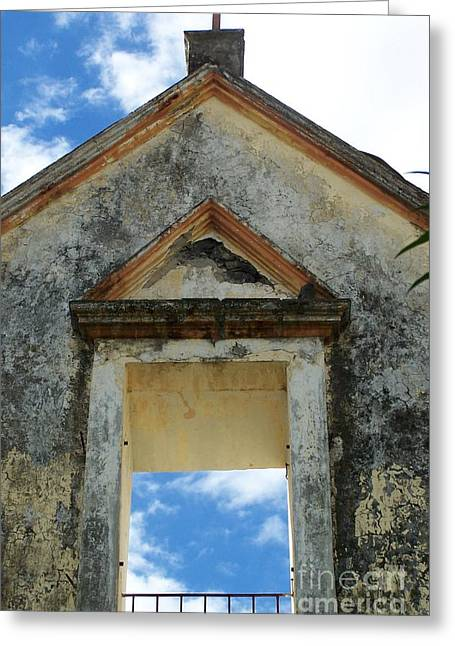 Eglise - Ile De La Reunion Greeting Card by Francoise Leandre