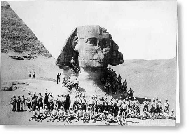 Egypt: Great Sphinx, 1882 Greeting Card by Granger
