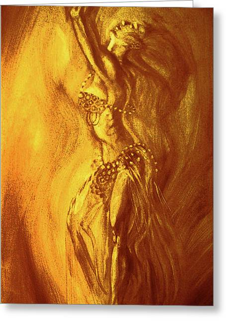 Egyptian Dancer 1 Greeting Card by Christo Wolmarans