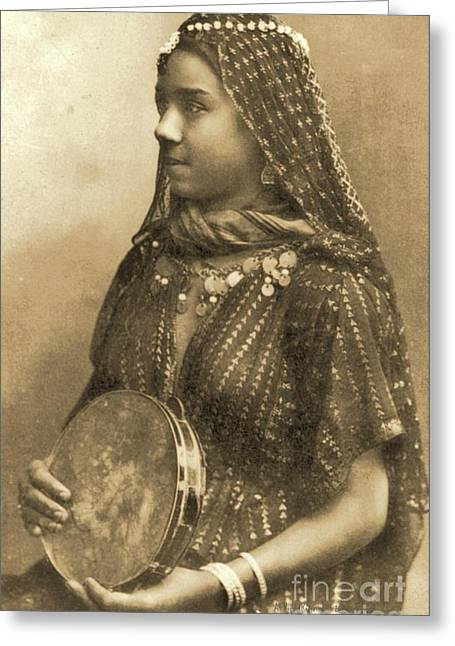 Egyptian Dancing Girl Greeting Card
