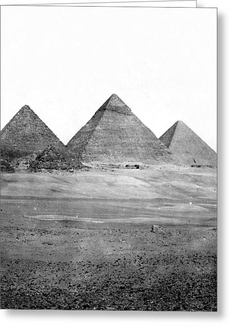 Egyptian Pyramids - C 1901 Greeting Card by International  Images