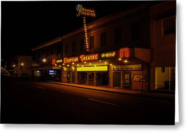 Egyptian Theatre Greeting Card by Chris Malone