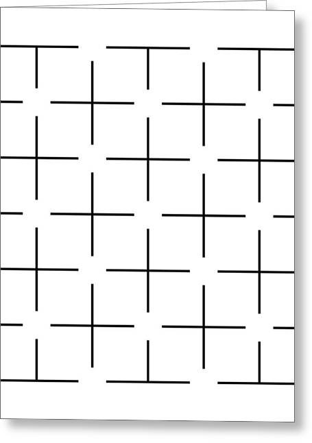 Ehrenstein Illusion Greeting Card by