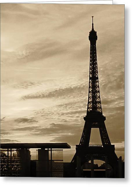 Eiffel At Sunset Greeting Card