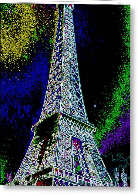 Eiffel Greeting Card by David Alvarez
