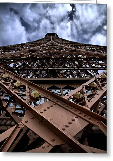 Greeting Card featuring the photograph Eiffel In Perspective  by Edward Myers