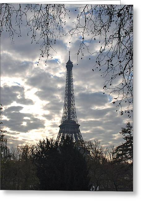Greeting Card featuring the photograph Eiffel In The Morning by Eric Tressler