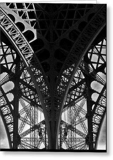 Eiffel Tower - Paris Greeting Card by Juergen Weiss