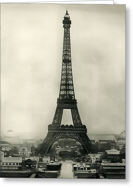 Eiffel Tower 1890 Greeting Card by Bill Cannon
