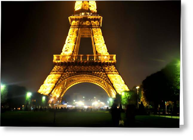 Eiffel Tower Abstract Greeting Card by Scott Massey
