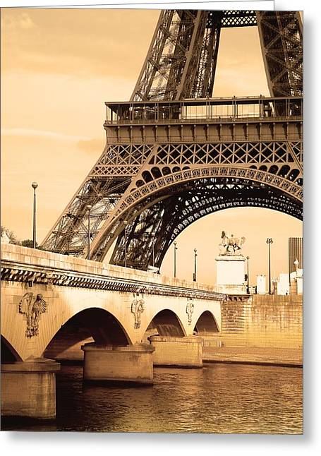 Eiffel Tower, Paris, France Greeting Card by Carson Ganci