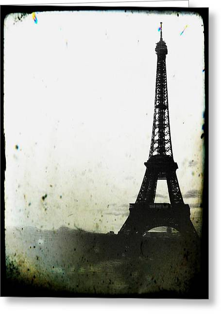 Eiffel Tower - Paris Greeting Card by Marianna Mills