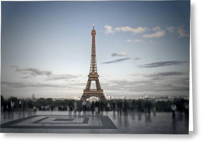 Eiffel Tower Paris Greeting Card by Melanie Viola