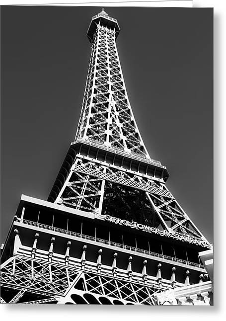 Eiffel Tower Vegas Style Greeting Card by Leslie Leda