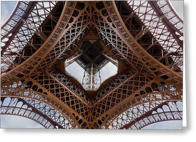 Eiffeltower Eiffel Tower Eiffelturm Greeting Card by H a r a l d B e r t l i n g