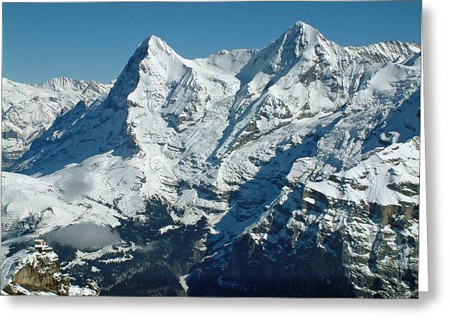 Eiger And Monsch Swiss Alps Greeting Card