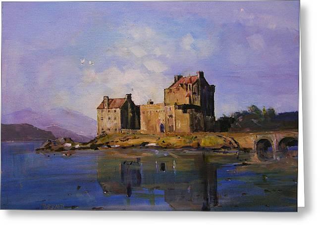 Eilean Donan Castle Greeting Card by Peter Tarrant