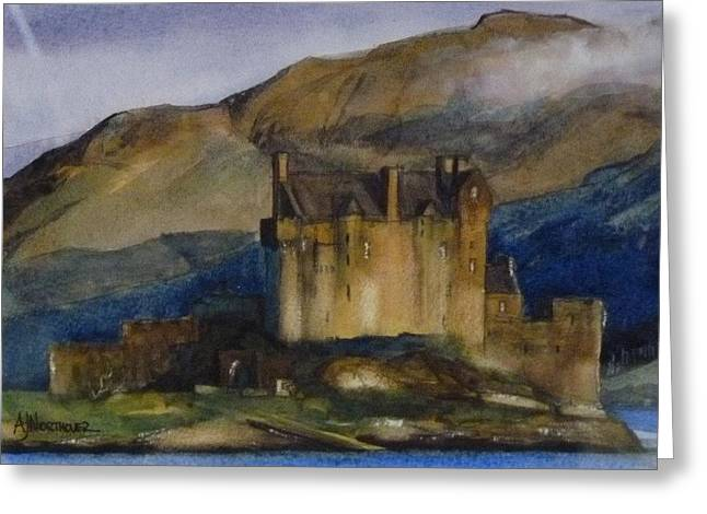 Eilean Donan Castle Greeting Card by Tony Northover