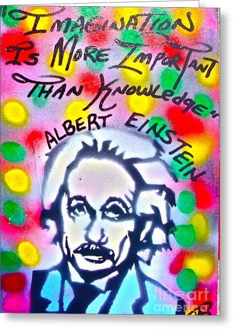 Einstein Imagination Greeting Card