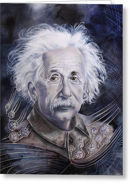 Einstein Greeting Card by Tanya Jacobsz