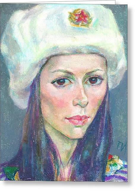 Ekaterina Kindzerskaya Greeting Card by Leonid Petrushin