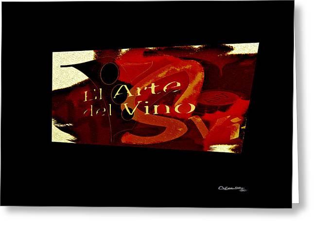 El Arte Del Vino Greeting Card by Xoanxo Cespon