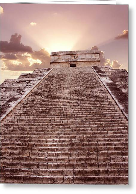 El Castillo, Chichen Itza, Mexico Greeting Card by Tony Craddock